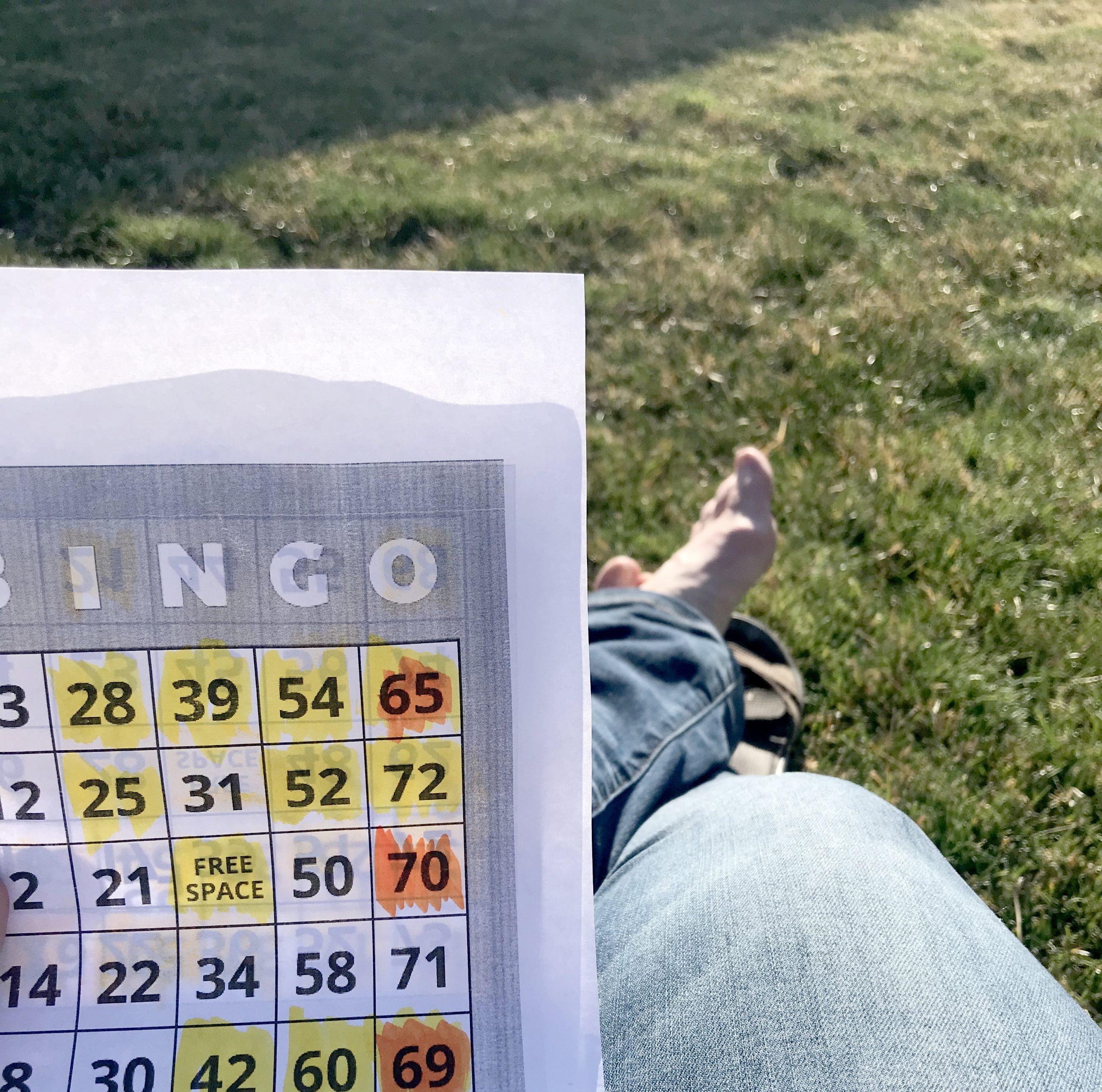 Social distance bingo