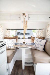 Sitting Inside Camper Van